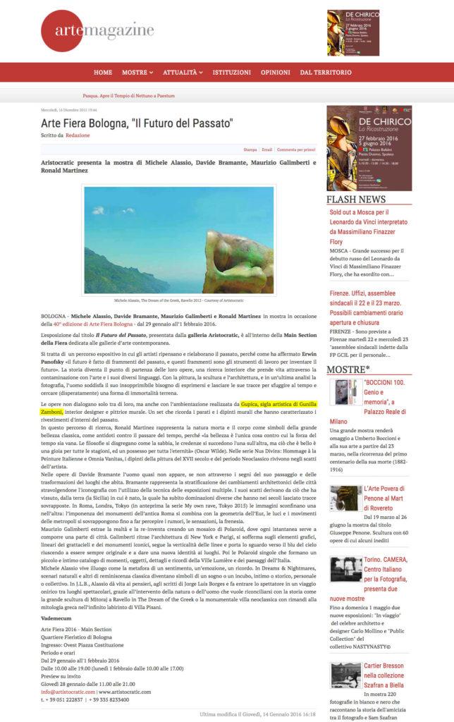Gupica_ArteMagazine
