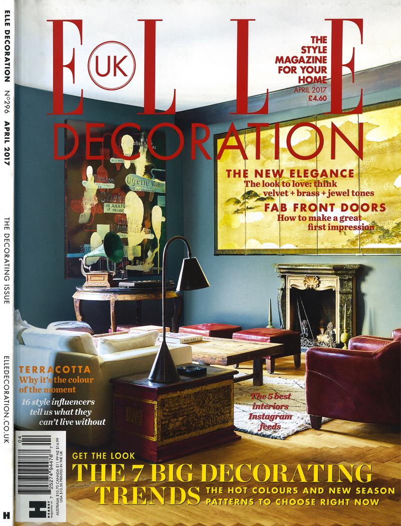 Elle Decoration UK cover, April 2017 issue